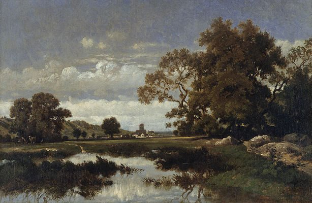 An image of Barbizon landscape