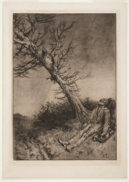 An image of Death of the vagabond by Alphonse Legros