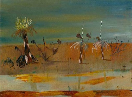 An image of Carron Plains by Sidney Nolan