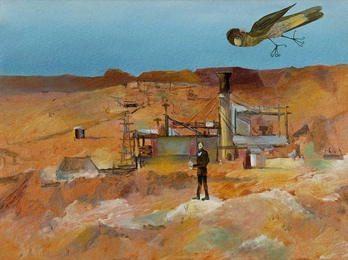 An image of Pretty Polly Mine by Sidney Nolan