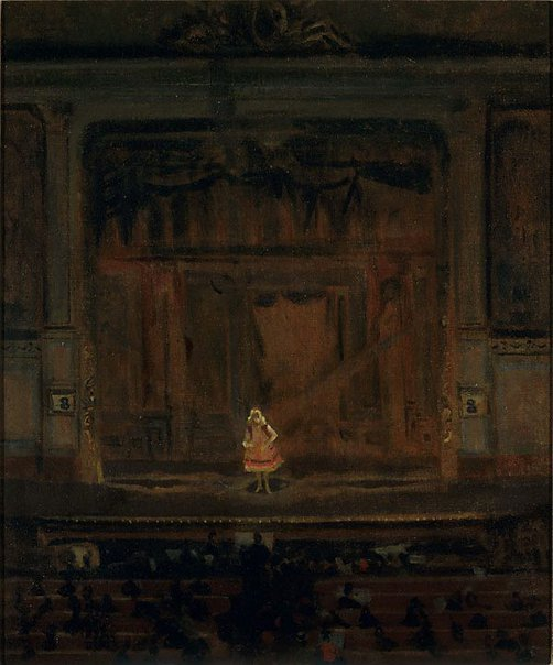 An image of The Oxford Music Hall by Walter Richard Sickert