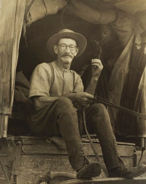 An image of Mr Sheather, drover (near Tumut) by Molly Lyons