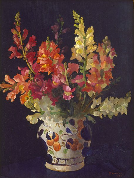 An image of Snapdragons by Elioth Gruner