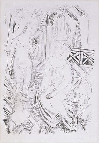 An image of The bathers by Raoul Dufy