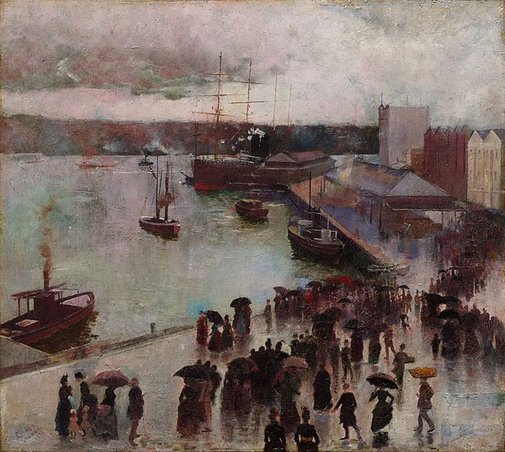 Departure of the Orient, Circular Quay - Charles Conder, 1888