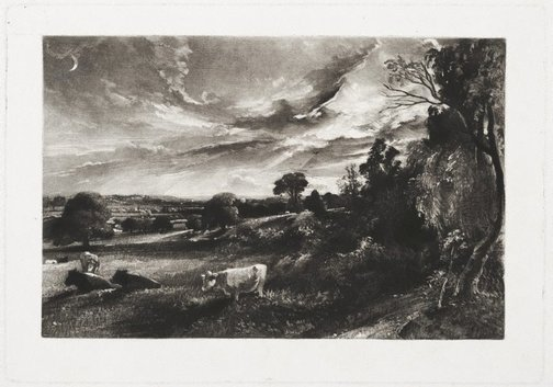 An image of Summer evening by David Lucas, after John Constable