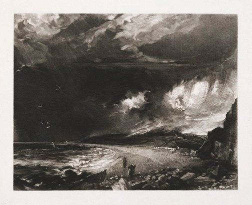 An image of Weymouth Bay by David Lucas, after John Constable