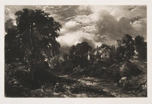 An image of The glebe farm by David Lucas, after John Constable