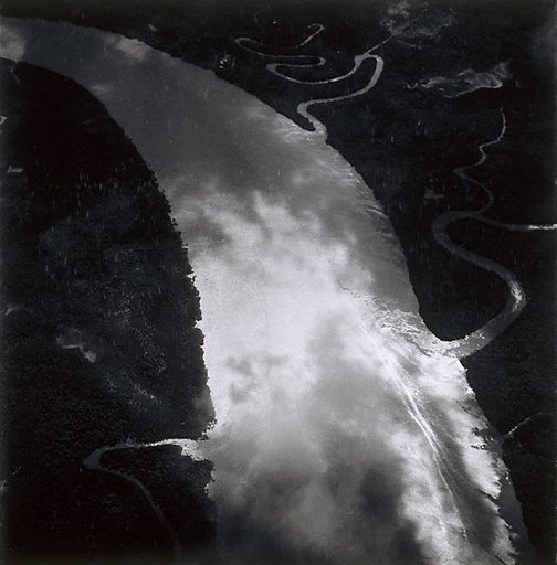An image of The Burdekin River in flood by Max Dupain