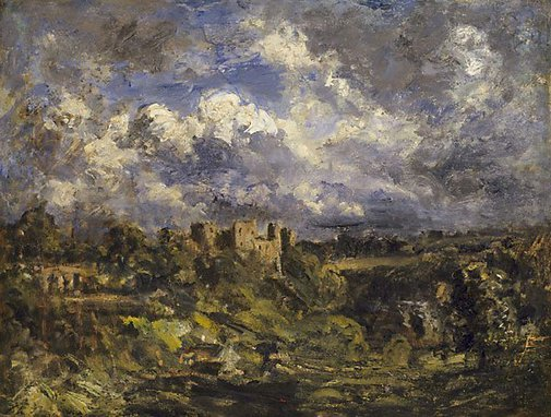 An image of Ludlow Castle by Phillip Wilson Steer