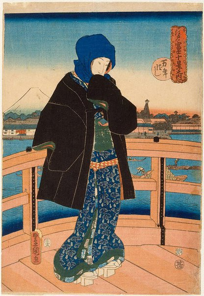An image of Mannen Bridge by Utagawa KUNISADA /TOYOKUNI III