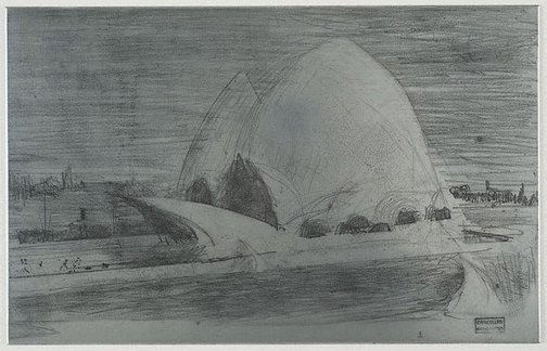 An image of Plate for 'Sydney Opera House' by Lloyd Rees