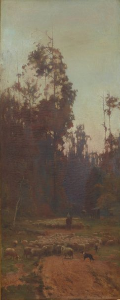 An image of Nearing the camping ground by John Ford Paterson
