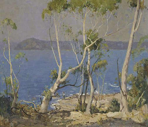 An image of Summer time, Broken Bay by James Muir Auld