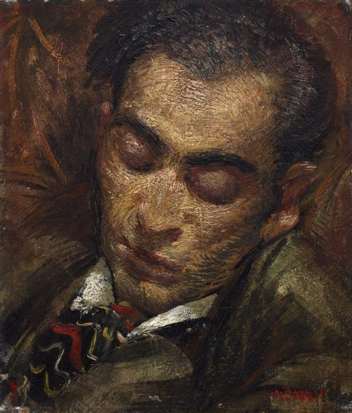 An image of The sleeping Greek by William Dobell