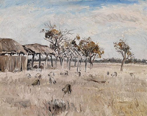 An image of Midday, the Wimmera by Arthur Boyd