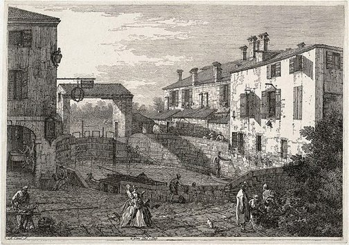 An image of Le porte del Dolo by Canaletto