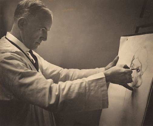 An image of The charcoal drawing (Henry Gibbons) by Harold Cazneaux