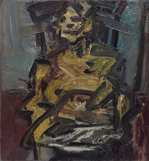 An image of J.Y.M. Seated IV by Frank Auerbach