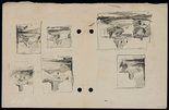 Alternate image of recto: Chair [right] and House plan [left] verso: Composition sketches [upside down] by Lloyd Rees