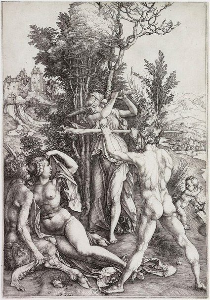 An image of Hercules at the crossroads by Albrecht Dürer