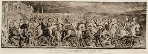 An image of Chaucer's Canterbury pilgrims by William Blake