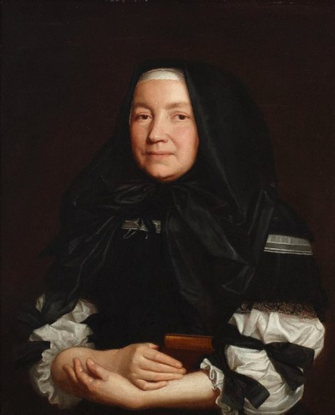 An image of Portrait of an English widow by attrib. Pieter Borselaer
