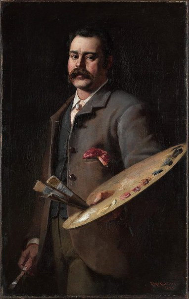 An image of Self portrait by Frederick McCubbin