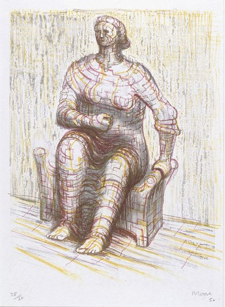 An image of Seated figure by Henry Spencer Moore