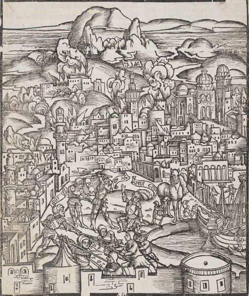 An image of The siege of Troy by Press of Gunther Zainer, Augsburg