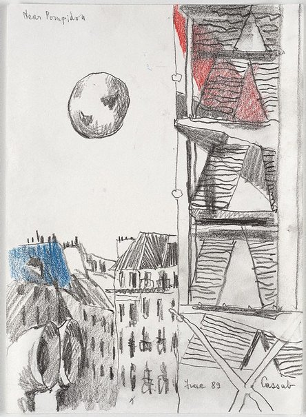 An image of Near Pompidou by Judy Cassab