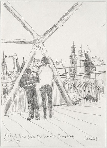 An image of View of Paris from the Centre Pompidou by Judy Cassab