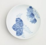 Alternate image of Set of 5 round dishes with Paulownia design by Arita ware/ Nabeshima style