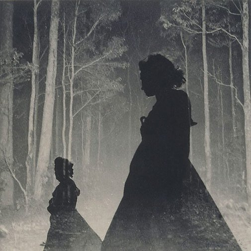An image of Untitled (Women silhouettes and trees) by Max Dupain
