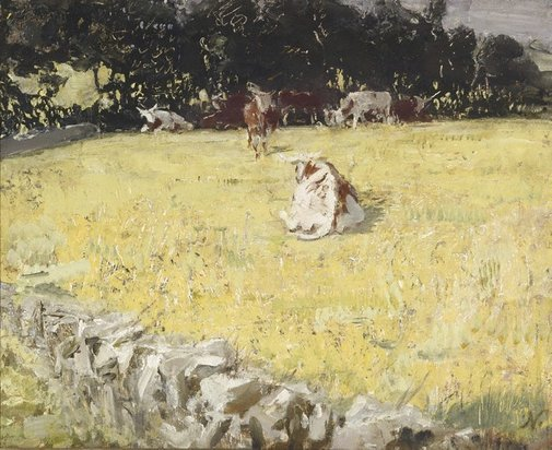 An image of Hereford cattle by Sir William Nicholson