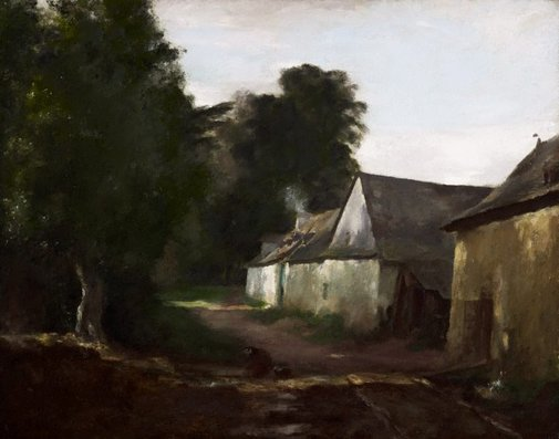 An image of The lane, Pacé by Max Meldrum