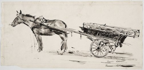 An image of Donkey cart by Dennis Adams