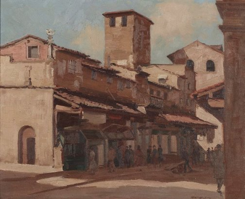 An image of Shops on Ponte Vecchio, Florence by Henry Hanke