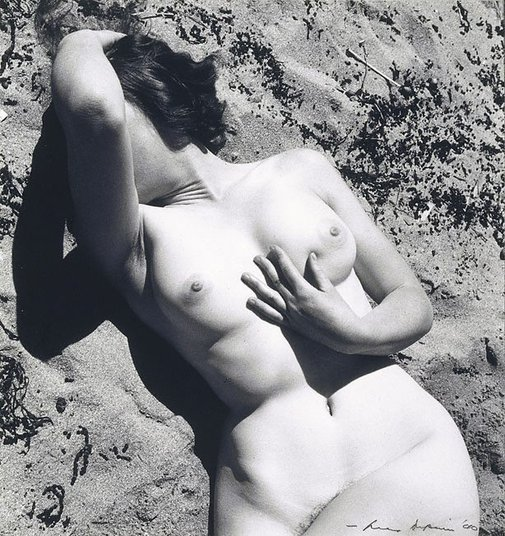 An image of Untitled (Nude in sand) by Max Dupain