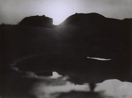 An image of Untitled (Reclining silhouette) by Max Dupain