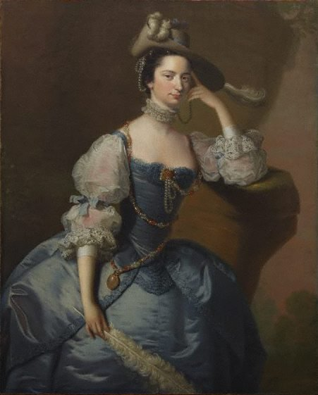 An image of Lady Oxenden by Joseph Wright of Derby