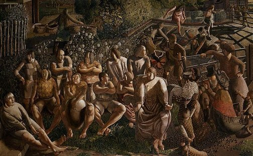 An image of Christ in Cookham by Sir Stanley Spencer