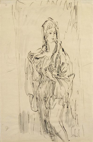 An image of Study for 'The Virgin' by Augustus John OM