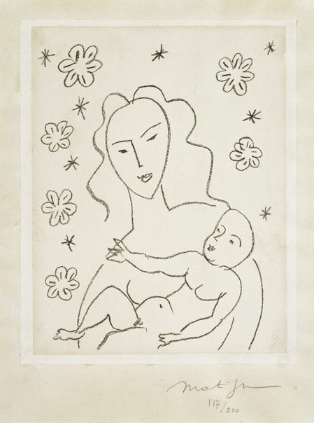 An image of Virgin and child by Henri Matisse