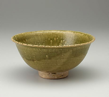 An image of Bowl with green glaze