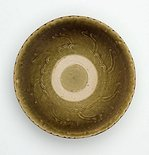 Alternate image of Bowl with green glaze by