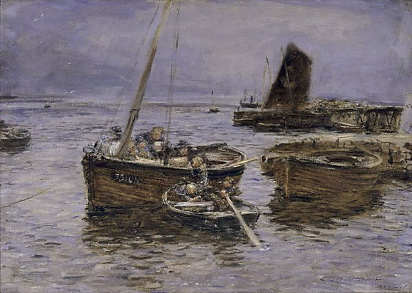 An image of Rainy day, Carradale Harbour