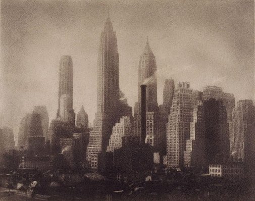 An image of Untitled (New York City skyline) by George James Morris