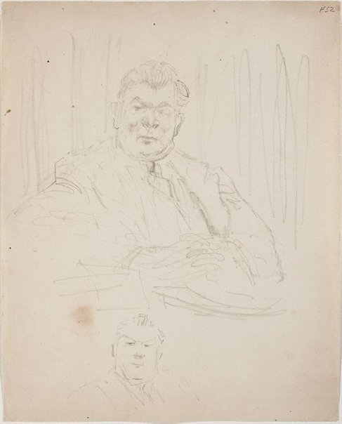 An image of (Portrait study of man seated) (Late Sydney Period) by William Dobell