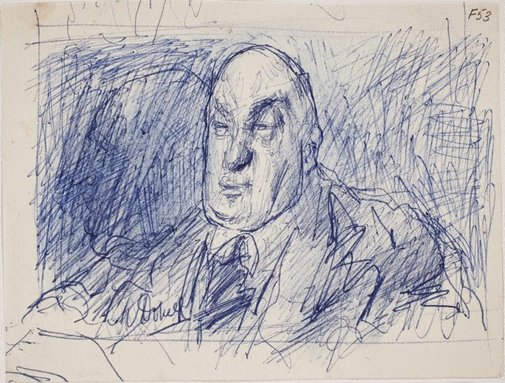 An image of (Portrait study of man) (Late Sydney Period) by William Dobell